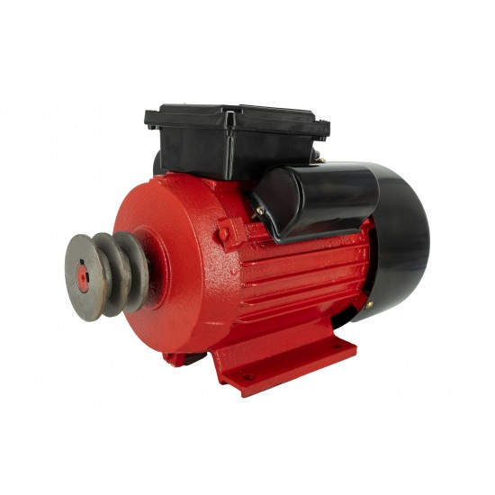 Motor electric monofazat Swat,0.75Kw,1500Rpm,buton pornire, fulie dubla,bobinaj cupru-3-550x550w